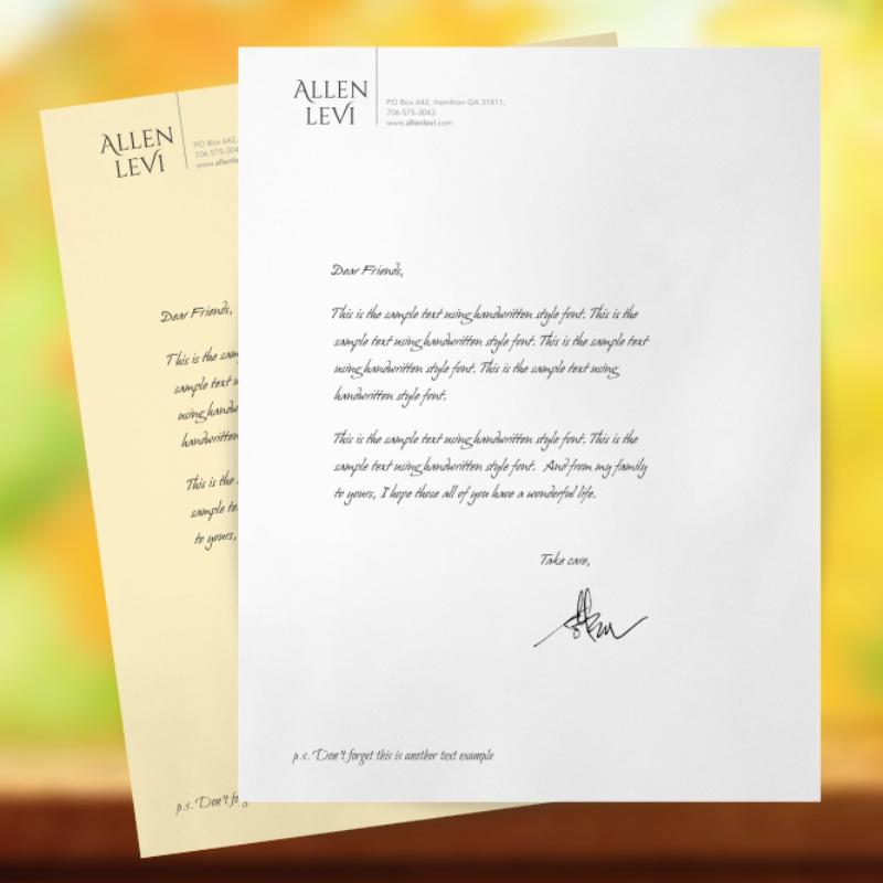 business letter format pdf%0A Letterhead  u     Stationery  a Logo  u     Identity project by Allenlevi on  crowdspring   crowdspring