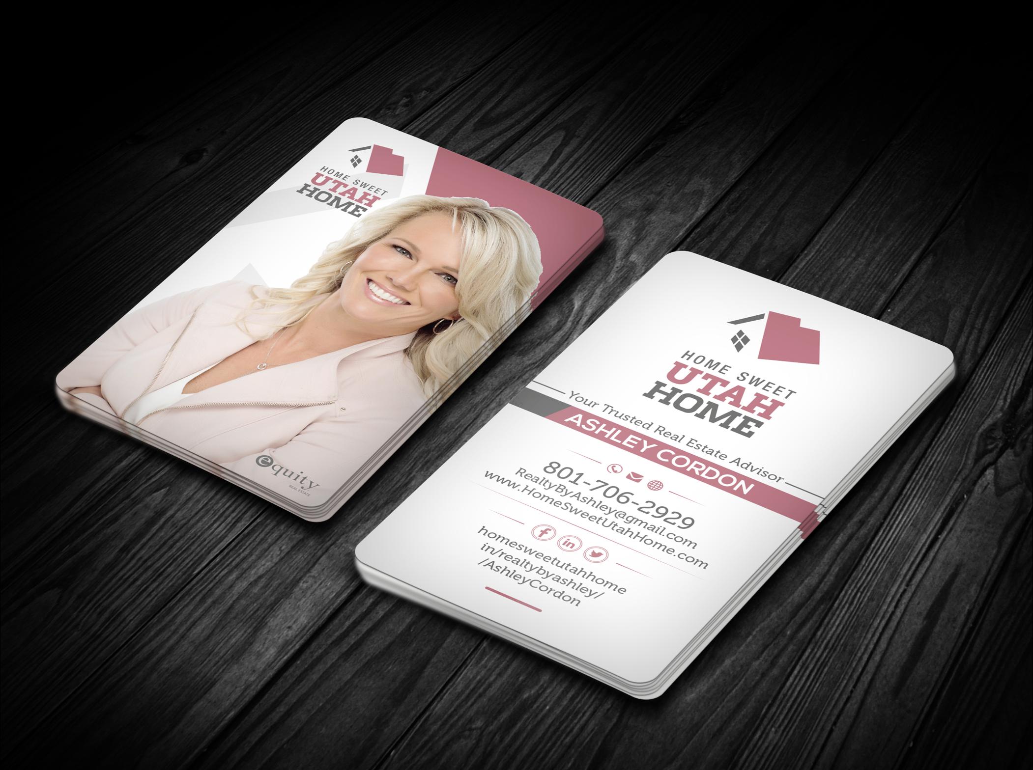 Realtor Business Cards A Logo Identity Project By Realtybyashley