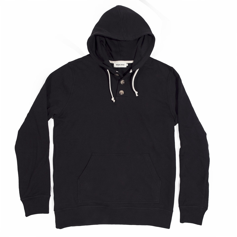 Charcoal 3 Button Hooded Sweatshirt - featured image