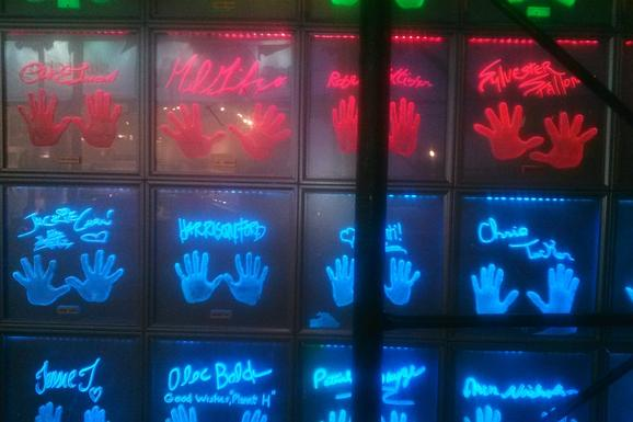 Planet Hollywood Handprints