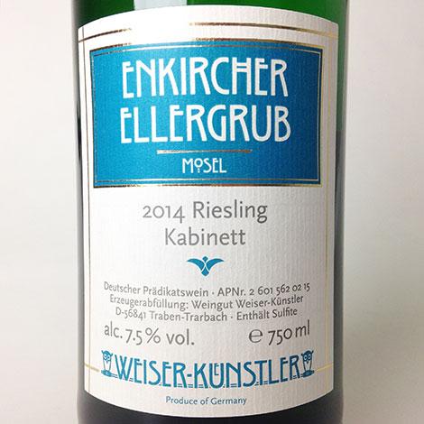 2014 Weiser-Kunstler Riesling Enkircher Ellergrub Kabinett 750 ml