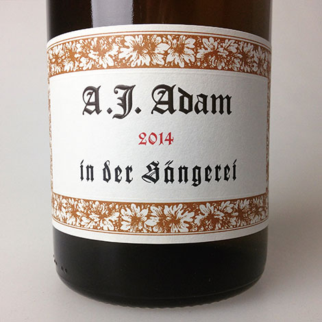 2014 Adam, A.J. Riesling Dhroner In der Sangerei Feinherb 750 ml
