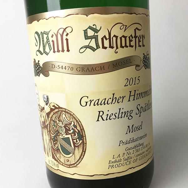2015 Schaefer, Willi Riesling Spatlese Graacher Himmelreich 750 ml