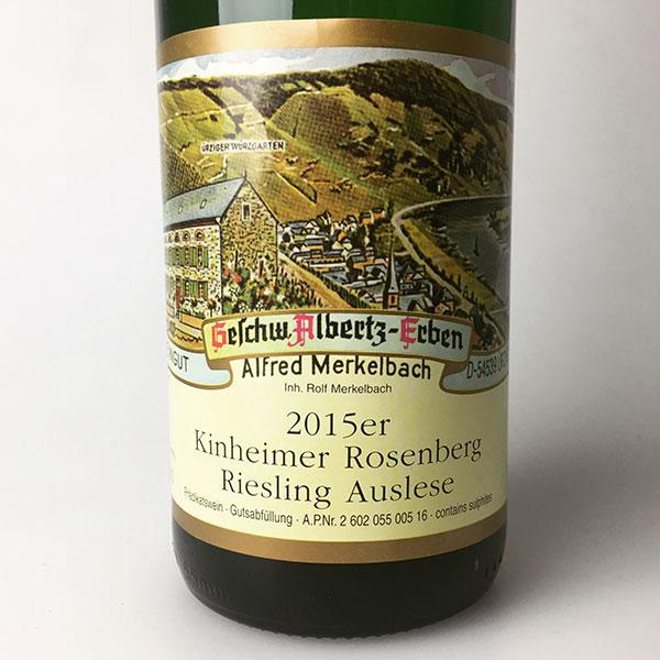 2015 Merkelbach Kinheimer Rosenberg Riesling Auslese #5 750 ml