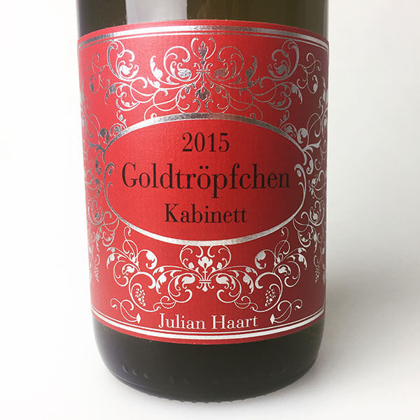 2015 Haart, Julian Riesling Goldtropfchen Kabinett 750 ml