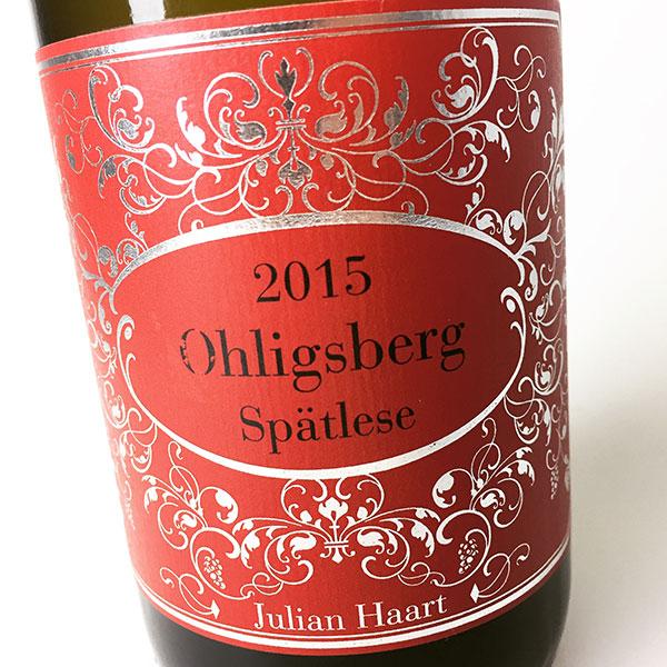 2015 Haart, Julian Riesling Ohligsberg Spatlese 750 ml