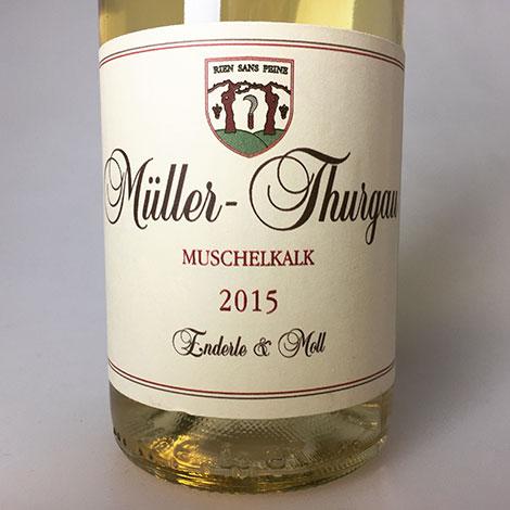 2015 Enderle & Moll Muller-Thurgau Muschelkalk 750 ml