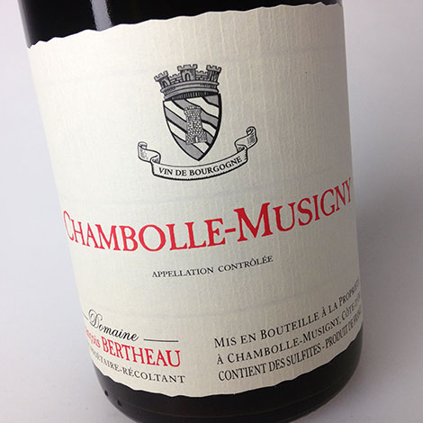 2014 Domaine François Bertheau Chambolle-Musigny 750 ml