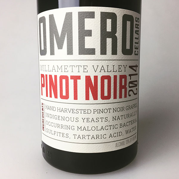 2014 Omero Pinot Noir Willamette Valley 750 ml