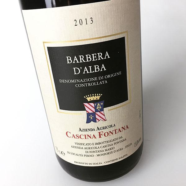 2013 Cascina Fontana Barbara d'Alba 750 ml