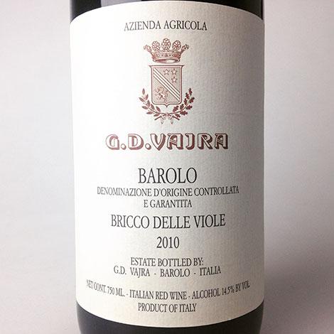 2010 Vajra, G.D. Barolo Bricco delle Viole 750 ml
