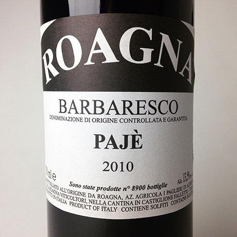 2010 Roagna Barbaresco Paje 750 ml