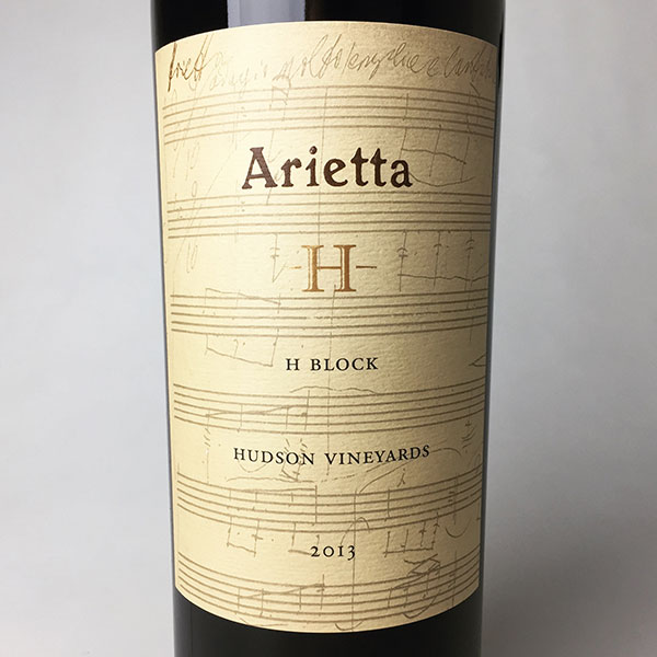 2013 Arietta Red Wine H Block Hudson Vineyards 750 ml
