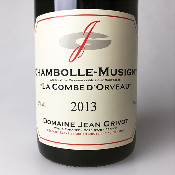 2013 Grivot, Jean Chambolle-Musigny 1er Cru Combes d'Orveaux 750 ml