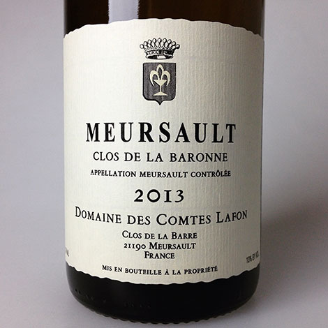 2013 Comtes Lafon Meursault Clos de la Baronne 750 ml