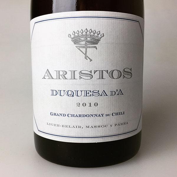 2010 Aristos Chardonnay Duquesa d'A 750 ml