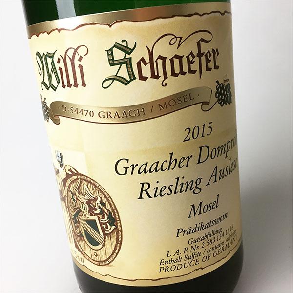 2015 Schaefer, Willi Riesling Auslese Graacher Domprobst AP. 11 750 ml