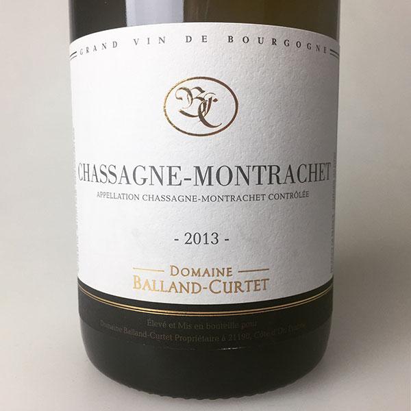 2013 Domaine Balland-Curtet Chassagne-Montrachet 750 ml