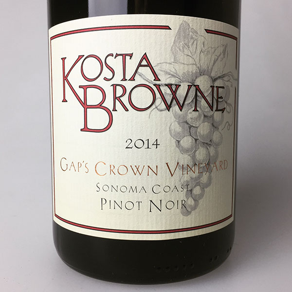 2014 Kosta Browne Pinot Noir Gap's Crown Vineyard 750 ml
