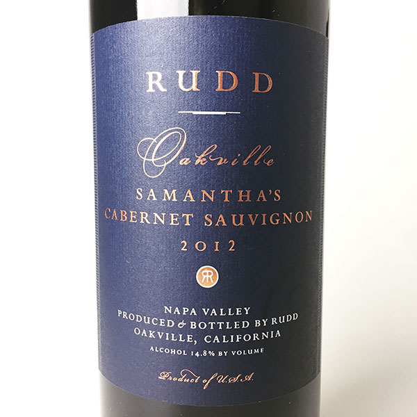 2012 Rudd Oakville Estate Samantha's Cabernet 750 ml