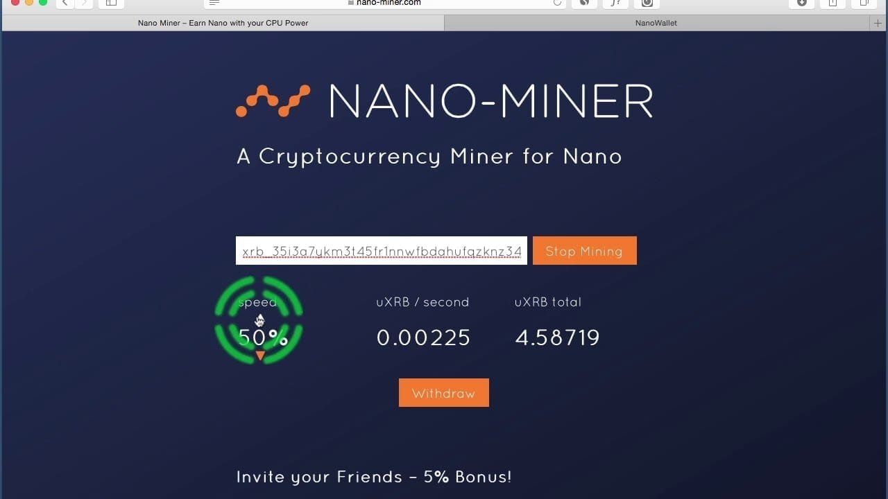 Free Nano XRB Cryptocurrency Mining Site… Does It Work? | Crypto