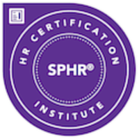 Senior professional in human resources sphr certification