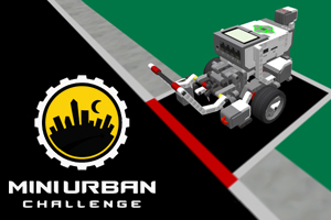 Mini Urban Challenge: Navigate a mini-urban city
