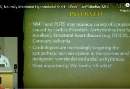 POTS, Neurally Mediated Hypotension & the Tilt Table Test (Tilt Test)