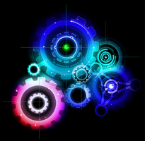 Illustration of gears working together