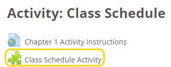 Student activity link