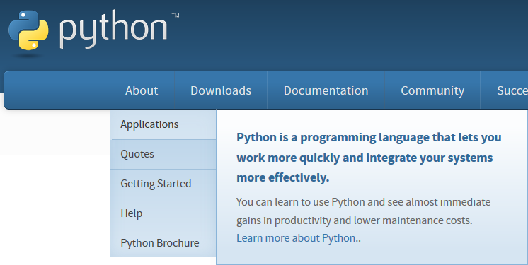 Learning about Python applications