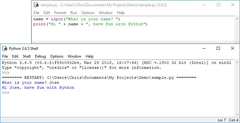 Python IDE Example
