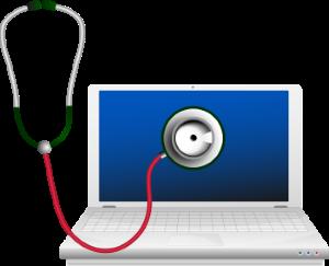 Stethescope on laptop