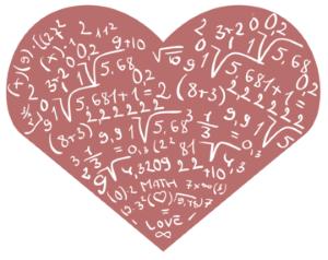 Math formulas inside a heart