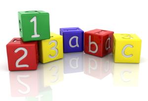 Blocks with 1-2-3-A-B-C