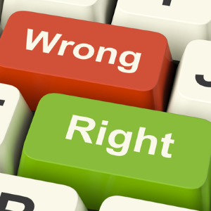 Right and Wrong keyboard input