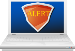 anti-virus software alert