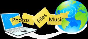 online backup service illustration