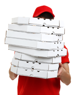 Anonymous pizza delivery