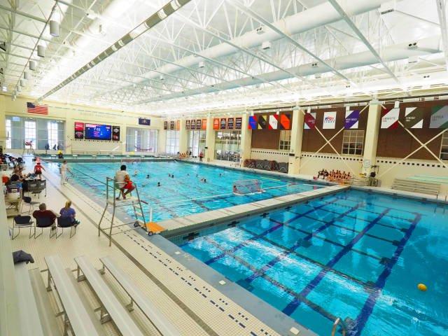 Kinney Natatorium in the Kenneth Langone Athletics & Recreation Center