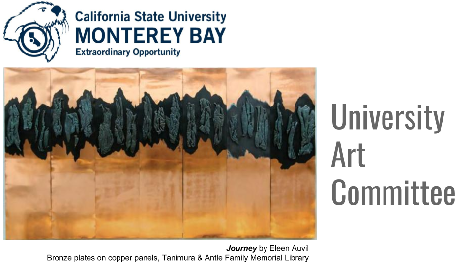 Cover of University Art Committee inventory slide show