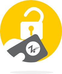 A clipart of a phone with the Zipcar logo unlocking a lock