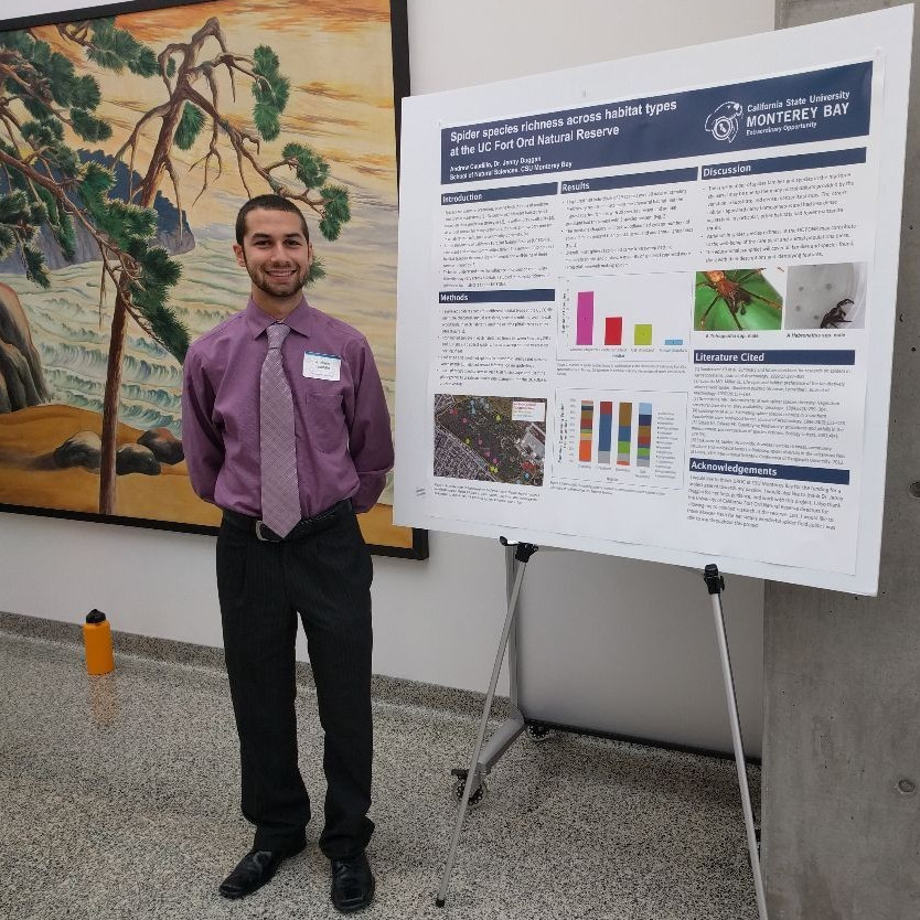 Andrew Caudillo and his poster