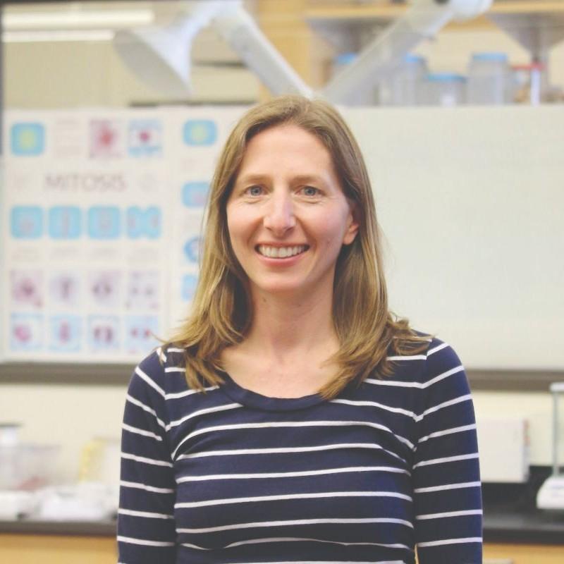 Cheryl in a lab