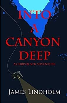Cover of Into a Canyon Deep by James Lindholm featuring a scuba diver