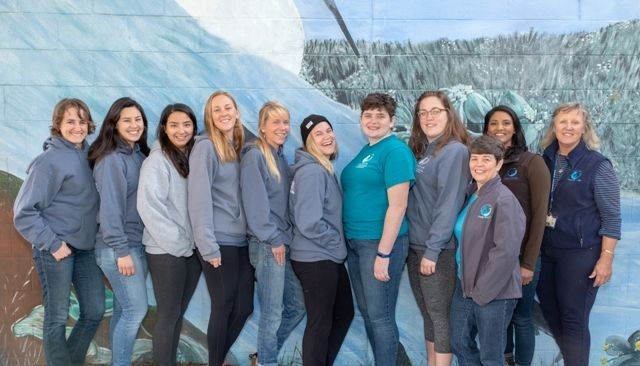 All eleven members of the Camp SEA Lab spring 2019 staff