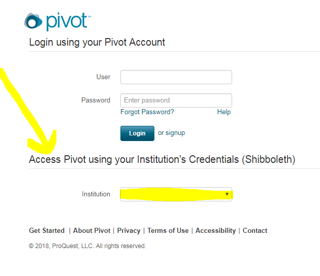 Log into Pivot with your OtterID