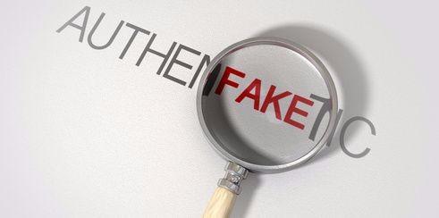 Fake website link