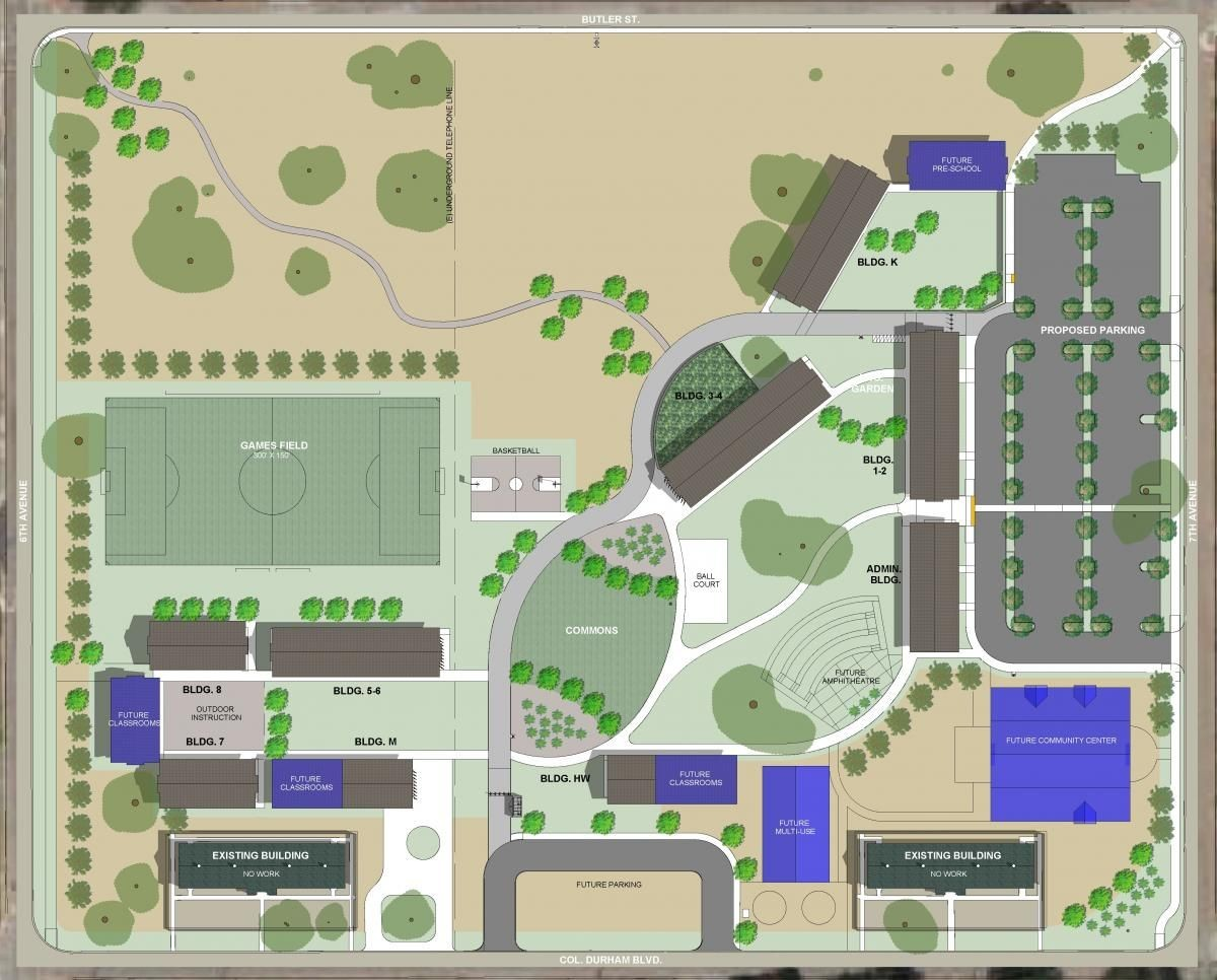 Proposed Monterey Bay Charter School 18-acre site plan