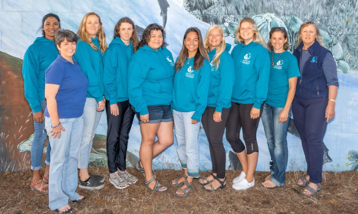 All ten members of the Camp SEA Lab fall 2019 staff